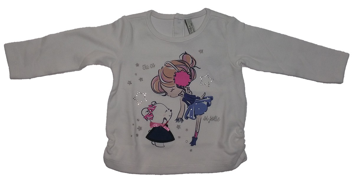TSHIRT INTERLOCK STRETCH SME BIMBA 17.99€